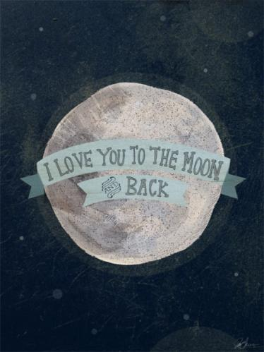 I Love You To The Moon - Blue by Oopsy daisy Thumbnail