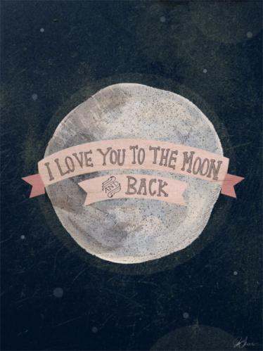 I Love You To The Moon - Pink by Oopsy daisy Thumbnail