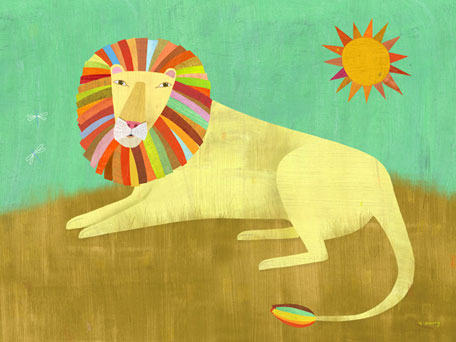 Lounging Lion by Oopsy daisy
