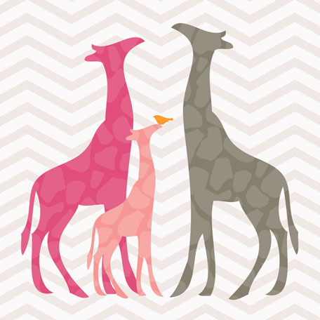 Modern Giraffes - Pink by Oopsy daisy Thumbnail