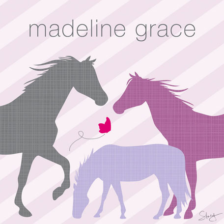 Modern Horses - Purple by Oopsy daisy Thumbnail
