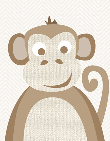 Natural Monkey by Oopsy daisy
