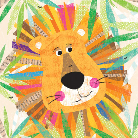 Peeking Jungle Buddies - Lion by Oopsy daisy