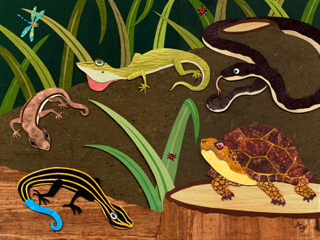 Reptile Gathering by Oopsy daisy