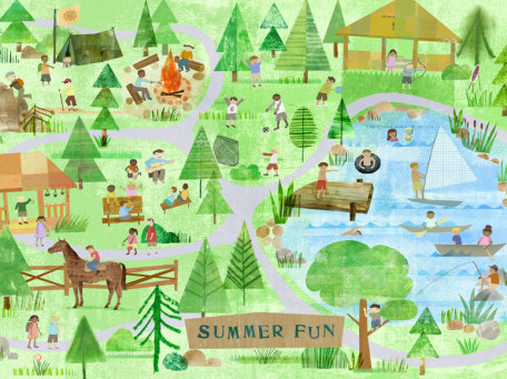 Summer Fun by Oopsy daisy