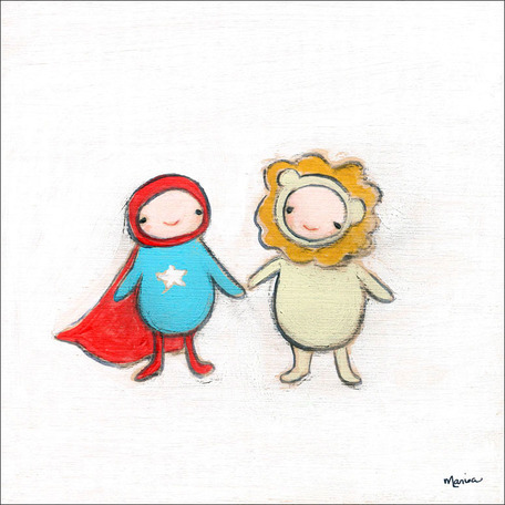 Super Hero And Lion by Oopsy daisy