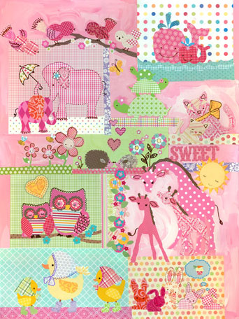 Sweet Cuddly Critters by Oopsy daisy