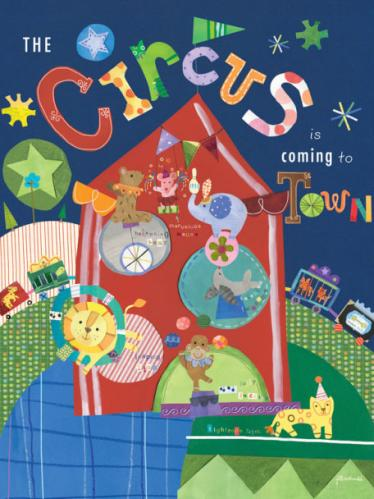 The Circus is Coming to Town by Oopsy daisy