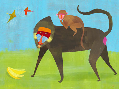 These Baboons are Bananas by Oopsy daisy