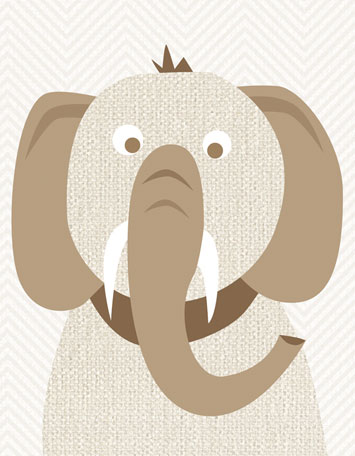 Tusks and Trunks by Oopsy daisy