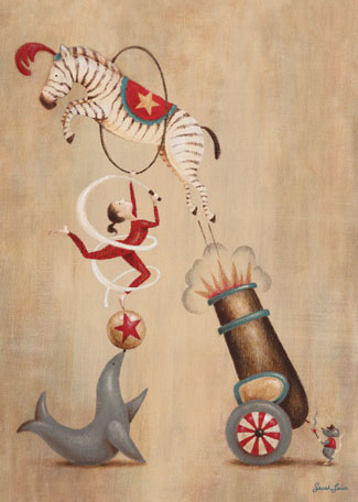 Vintage Circus Cannon by Oopsy daisy