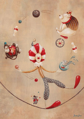 Vintage Circus Clown by Oopsy daisy