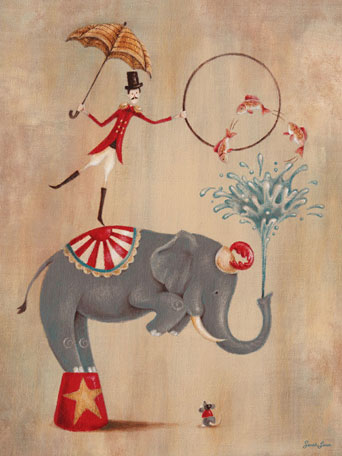 Vintage Circus Elephant by Oopsy daisy
