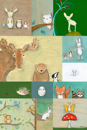 Woodland Animal Patchwork by Oopsy daisy