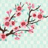 Cherry Blossom Branch by Oopsy daisy