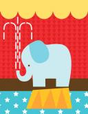 Circus Tricks - Elephant by Oopsy daisy