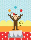 Circus Tricks - Monkey by Oopsy daisy