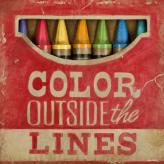 Color Outside the Lines by Oopsy daisy