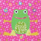Floral Frog by Oopsy daisy