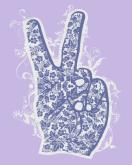 Floral Peace - Lavender by Oopsy daisy