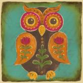 Folklore Owl - Orange by Oopsy daisy