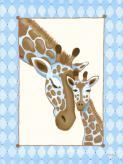 Giraffe Family - Blue by Oopsy daisy