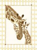 Giraffe Family - Cream by Oopsy daisy