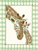 Giraffe Family - Green by Oopsy daisy