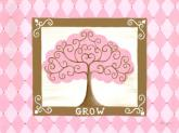 Grow Tree - Pink by Oopsy daisy