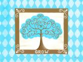 Grow Tree - Turquoise by Oopsy daisy