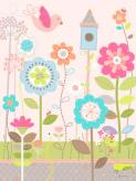 Growing Flowers and Birdhouse by Oopsy daisy