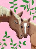 Horse Kisses - Pink by Oopsy daisy