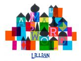 Its a Small World - Color Blocks by Oopsy daisy
