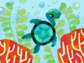 Marine Munchkins - Coral Turtle by Oopsy daisy