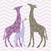 Modern Giraffes - Purple by Oopsy daisy