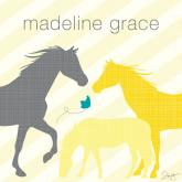 Modern Horses - Yellow by Oopsy daisy