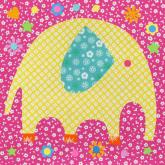 Perfectly Patterned Elephant by Oopsy daisy
