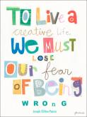 To Live A Creative Life by Oopsy daisy