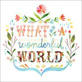 What A Wonderful World by Oopsy daisy