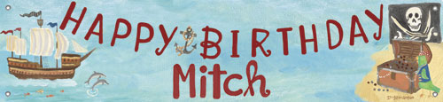 Pirate Birthday Banner by Oopsy daisy