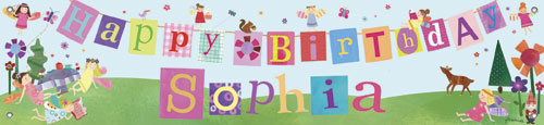 Fairies Birthday Banner by Oopsy daisy