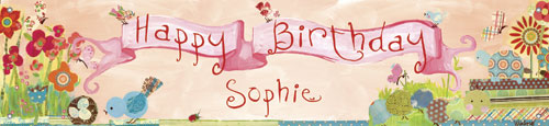 Garden Pals Birthday Banner by Oopsy daisy