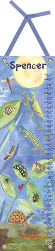 Backyard Bugs Growth Chart by Oopsy daisy