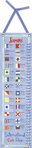 Nautical Flag Growth Chart by Oopsy daisy