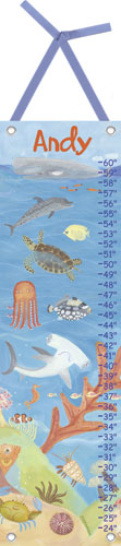 Ocean World Growth Chart by Oopsy daisy