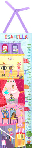 Ballet Academy Growth Chart by Oopsy daisy