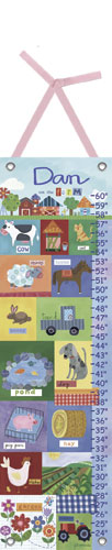 Growing on the Farm Growth Chart by Oopsy daisy