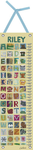 Animal Alphabet Growth Chart by Oopsy daisy