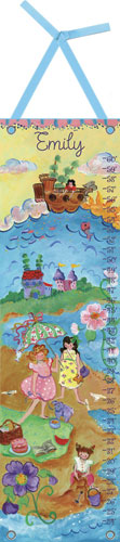 By the Sea Growth Chart for Girls by Oopsy daisy
