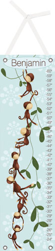 Powder Blue Monkeying Around Growth Chart by Oopsy daisy